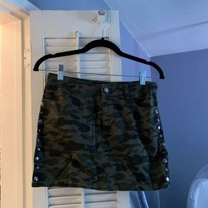 REBECCA MINKOFF Camouflage Mini Skirt
